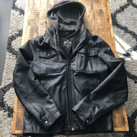 ea00e5091 Men's Express Vegan Leather Jacket